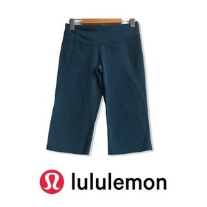 Lululemon Gather & Crow Crop Teal Blue Legging  6